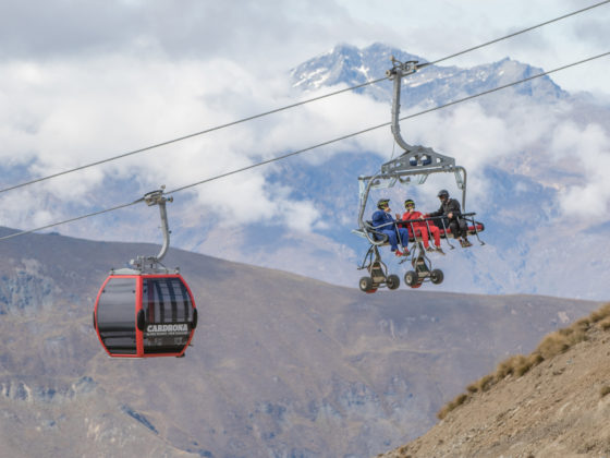 family fun with the carts at Cardrona, NZ