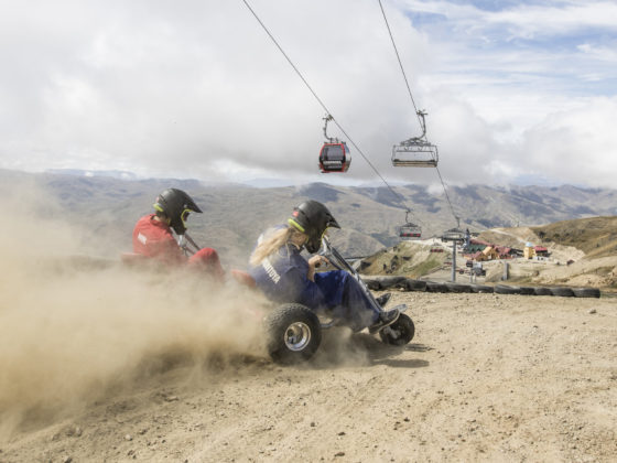 Drifting the carts at Cardrona